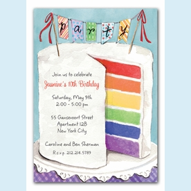 Colorful Cake Invitation - click to enlarge