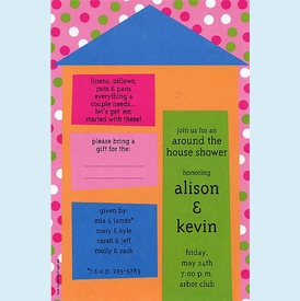"""Colorful Casa """"Around the House"""" Invitation - click to enlarge"""