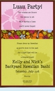 Colorful Hibiscus Invitation