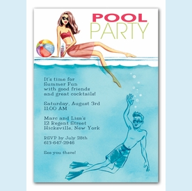 Cool at the Pool Invitation - click to enlarge
