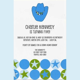Cool Blue Cowboy Invitation - click to enlarge