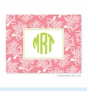 Coral Repeat Melon Folded Notes (set/25)