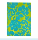 Coramandel Turquoise Flocked Journal