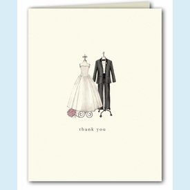 Couple Dress Forms Thank You Notes - click to enlarge