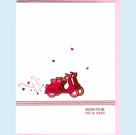 Crystalled Scooters Engagement Card - click to enlarge