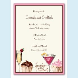 Cupcakes and Cocktails Invitation - click to enlarge