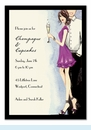 Cute Champagne Couple Invitation