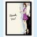 Cute Champagne Couple Thank You  Notes - click to enlarge