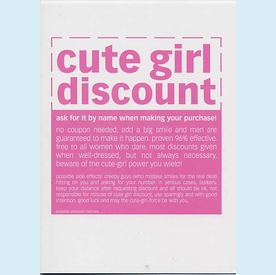 Cute Girl Discount Birthday Card - click to enlarge