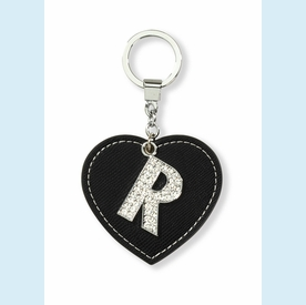 "Dazzle Initial ""R"" Key Chain - click to enlarge"