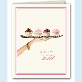 Dessert Tray Thank You Notes - click to enlarge