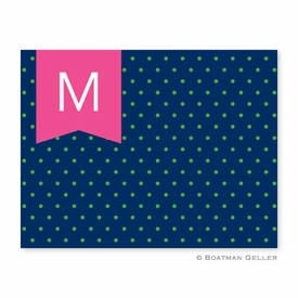 Dottie Kelly & Navy Folded Notes (set/25) - click to enlarge