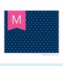Dottie Kelly & Navy Folded Notes (set/25)
