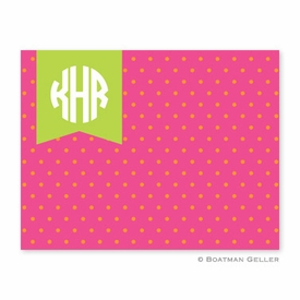 Dottie Tangerine & Raspberry Folded Notes (set/25) - click to enlarge