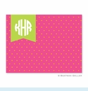 Dottie Tangerine & Raspberry Folded Notes (set/25)