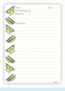 Double Recipe Card - Colander & Plates, Lime & Chocolate