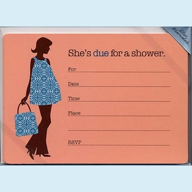 Due for a Shower Fill-in Invitation - click to enlarge