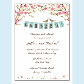 Elegant Engagement Banner Invitation - click to enlarge