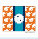 Elephants Ribbon in Orange Folded Notes (set/25)
