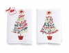 Embroidered Tree Linen Towels (set of 2)