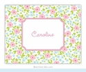 Emma Floral Pink Folded Notes (set/25)