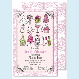 Everything Bride Large Flat Invitation - click to enlarge