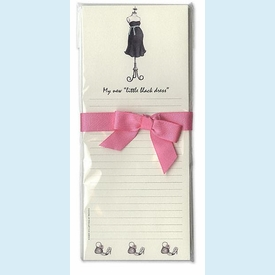 Expecting Dress Form List Pad - click to enlarge
