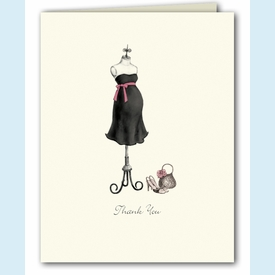 Expecting Dress Form Thank You Notes - click to enlarge