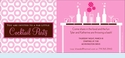 Fab Pink Cocktails Invitation