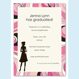 Fashionable Grad Invitation - click to enlarge
