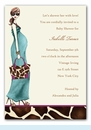 Fashionable Mom Invitation - Blue