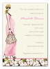 Fashionable Mom Pink Invitation (Blonde)