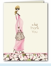 Fashionable Mom Pink Thank You Note (Blonde)