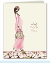 Fashionable Mom Thank You Notes - Pink