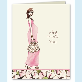 Fashionable Mom Thank You Notes - Pink - click to enlarge