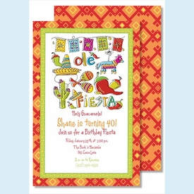 Fiesta Large Flat Invitation - click to enlarge