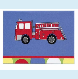 Firetruck/Dalmation Deux Notes - click to enlarge