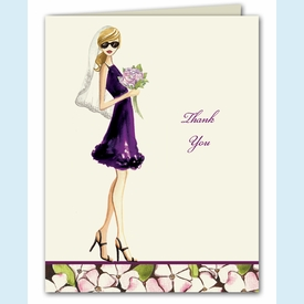 Floral Bride Thank You Notes - click to enlarge