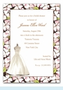 Floral Dress Form Invitation
