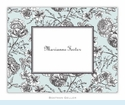 Floral Toile Aqua Folded Notes (set/25)