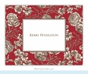 Floral Toile Red Folded Notes (set/25)