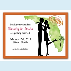 Florida Couple Invitation - click to enlarge