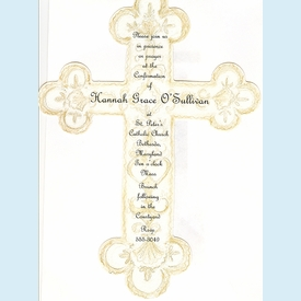 French Cross Invitation - click to enlarge
