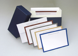 Gentleman Borders Personalized Notes (40 total)
