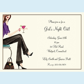 Girls' Night Out Invitation - click to enlarge