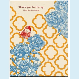"Give Thanks - ""Thank you for being"" Thank You Notes - click to enlarge"