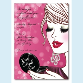 Glam Girls Night Out Invitation - click to enlarge