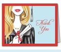 Glamorous Grad Thank You Notes (Blonde)
