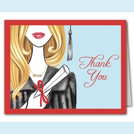 Glamorous Grad Thank You Notes (Blonde) - click to enlarge
