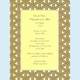 Gold/Green Floral Invitation - click to enlarge
